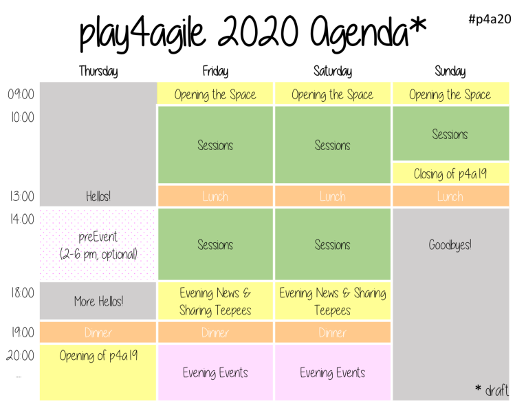 Play4Agile 2020 Agenda (Draft)